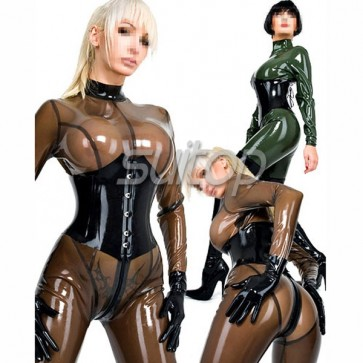 0.6mm New Arrivals latex catsuit rubber body suit SEXY SUITOP not including corset