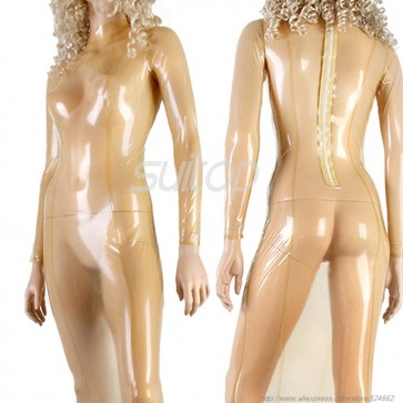 Sexy Exotic rubber latex dress in clear trasparent with back zip hand made