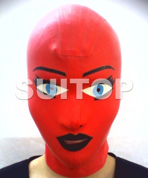 Suitop Latex Hoods Party Rubber Masks Hand Made