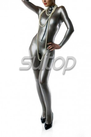 Sliver Latex jumpsuit for woman