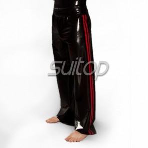 Men's sports latex trousers rubber pants provide color custom in hand made item contact with us by mg@suitop.com