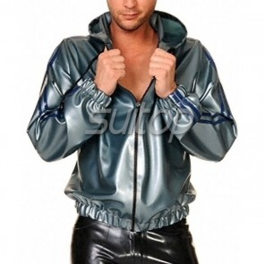 latex jacket coat rubber sweater