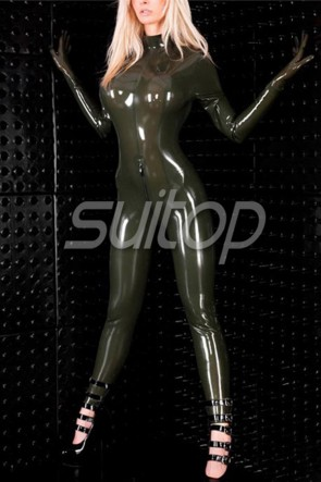 Free shipping via EMS 0.8mm heavy larex rubber full bodysuit latex catsuit