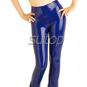 latex trousers pants rubber legging for woman