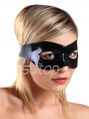 Suitop 100% natural rubber latex eye masks in black color for adults