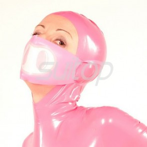 Suitop 100% natural rubber latex face masks in pink color for adults