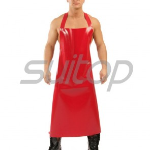 Suitop new arrival rubber latex halter apron accessories in red color