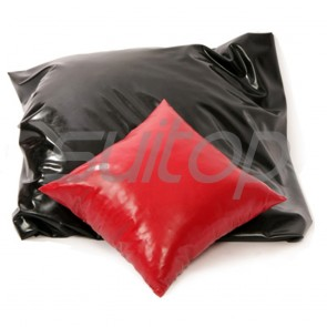 Suitop rubber pillowslip with size of 45X45CM latex pillow cover accessories in black/red colors for selections
